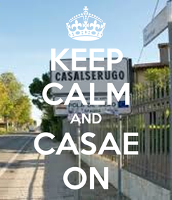 Poster: KEEP CALM AND CASAE ON
