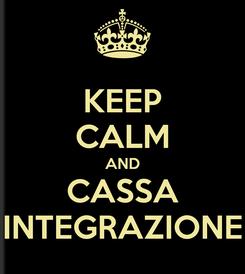 Poster: KEEP CALM AND CASSA INTEGRAZIONE