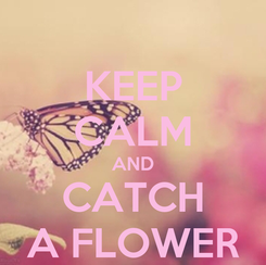 Poster: KEEP CALM AND CATCH A FLOWER