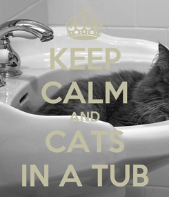 Poster: KEEP CALM AND CATS IN A TUB
