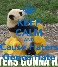 Poster: KEEP CALM AND Cause Haters Gonna Hate