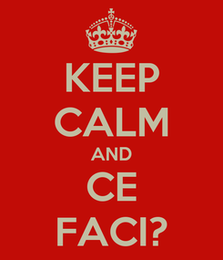 Poster: KEEP CALM AND CE FACI?