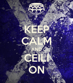 Poster: KEEP CALM AND CEILI ON