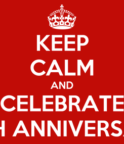 Poster: KEEP CALM AND CELEBRATE 10TH ANNIVERSARY