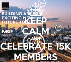 Poster: KEEP CALM AND CELEBRATE 15K MEMBERS