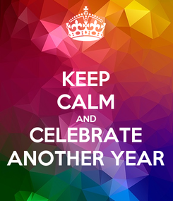 Poster: KEEP CALM AND CELEBRATE ANOTHER YEAR