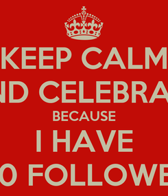 Poster: KEEP CALM AND CELEBRATE BECAUSE I HAVE 400 FOLLOWERS