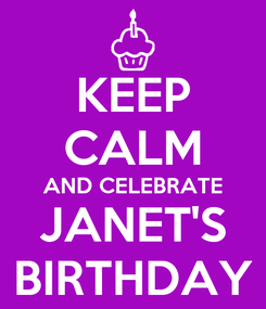 Poster: KEEP CALM AND CELEBRATE JANET'S BIRTHDAY