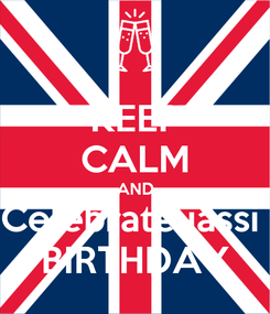 Poster: KEEP CALM AND Celebrate jassi  BIRTHDAY