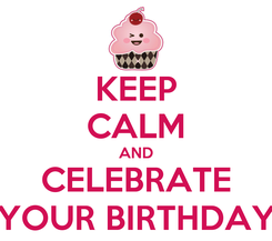 Poster: KEEP CALM AND CELEBRATE YOUR BIRTHDAY
