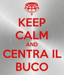 Poster: KEEP CALM AND CENTRA IL BUCO