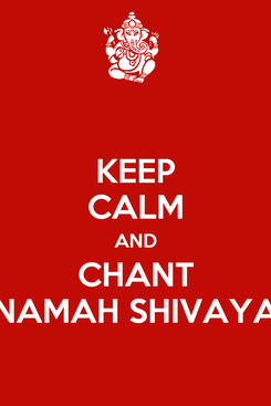 Poster: KEEP CALM AND CHANT NAMAH SHIVAYA