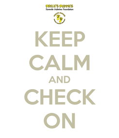 Poster: KEEP CALM AND CHECK ON