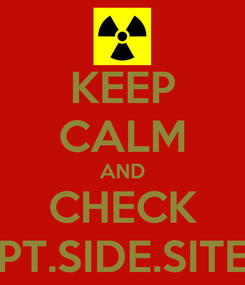 Poster: KEEP CALM AND CHECK PT.SIDE.SITE
