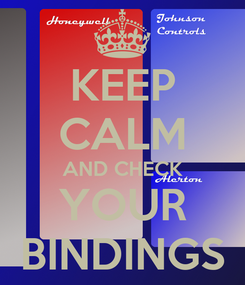 Poster: KEEP CALM AND CHECK YOUR BINDINGS