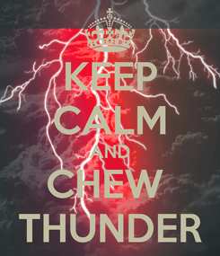 Poster: KEEP CALM AND CHEW  THUNDER
