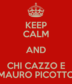 Poster: KEEP CALM AND CHI CAZZO E MAURO PICOTTO