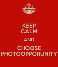 Poster: KEEP CALM AND CHOOSE PHOTOOPPORUNITY