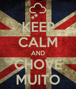 Poster: KEEP CALM AND CHOVE MUITO