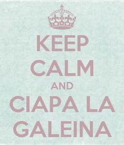 Poster: KEEP CALM AND CIAPA LA GALEINA