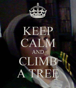 Poster: KEEP CALM AND CLIMB A TREE