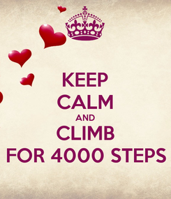 Poster: KEEP CALM AND CLIMB FOR 4000 STEPS