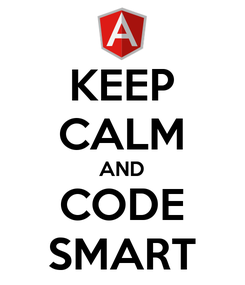 Poster: KEEP CALM AND CODE SMART
