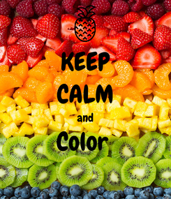 Poster: KEEP CALM and Color