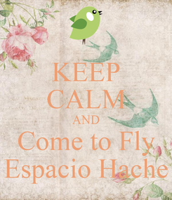 Poster: KEEP CALM AND Come to Fly Espacio Hache