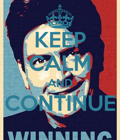 Poster: KEEP CALM AND CONTINUE