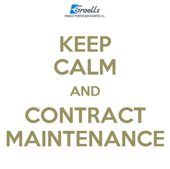Poster: KEEP CALM AND CONTRACT MAINTENANCE