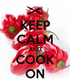 Poster: KEEP CALM AND COOK ON
