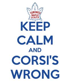 Poster: KEEP CALM AND CORSI'S WRONG