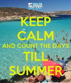 Poster: KEEP CALM AND COUNT THE DAYS TILL SUMMER