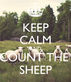 Poster: KEEP CALM AND COUNT THE  SHEEP