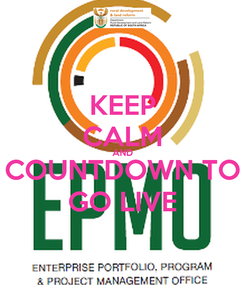 Poster: KEEP CALM AND COUNTDOWN TO GO LIVE