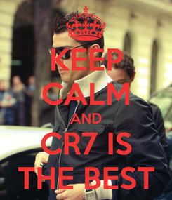 Poster: KEEP CALM AND CR7 IS THE BEST