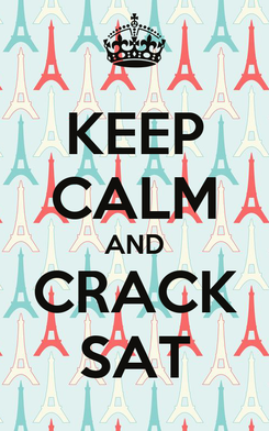 Poster: KEEP CALM AND CRACK SAT