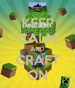 Poster: KEEP CALM AND CRAFT ON