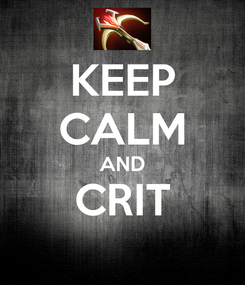 Poster: KEEP CALM AND CRIT