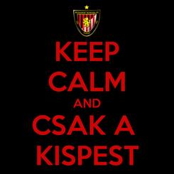 Poster: KEEP CALM AND CSAK A  KISPEST