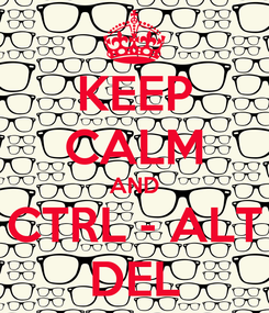 Poster: KEEP CALM AND CTRL - ALT DEL