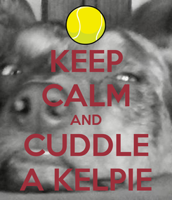 Poster: KEEP CALM AND CUDDLE A KELPIE
