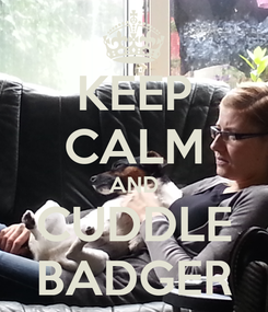 Poster: KEEP CALM AND CUDDLE BADGER