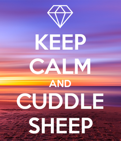 Poster: KEEP CALM AND CUDDLE SHEEP