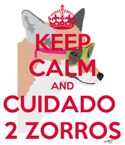 Poster: KEEP CALM AND CUIDADO  2 ZORROS