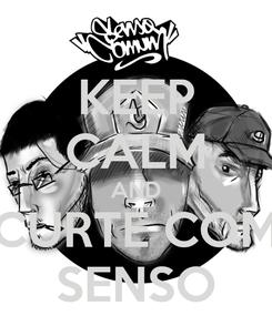 Poster: KEEP CALM AND CURTE COM SENSO