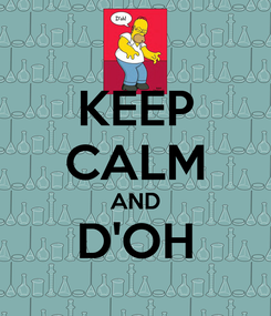 Poster: KEEP CALM AND D'OH