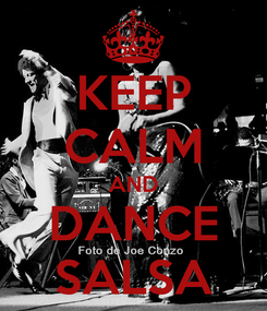 Poster: KEEP CALM AND DANCE SALSA