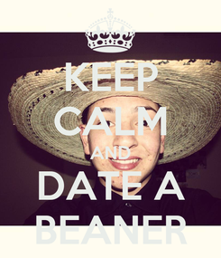 Poster: KEEP CALM AND DATE A BEANER